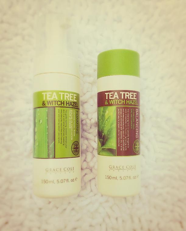 TEA TREE & WITCH HAZEL CLEANSER & TONER by GRACE COLE ENGLAND