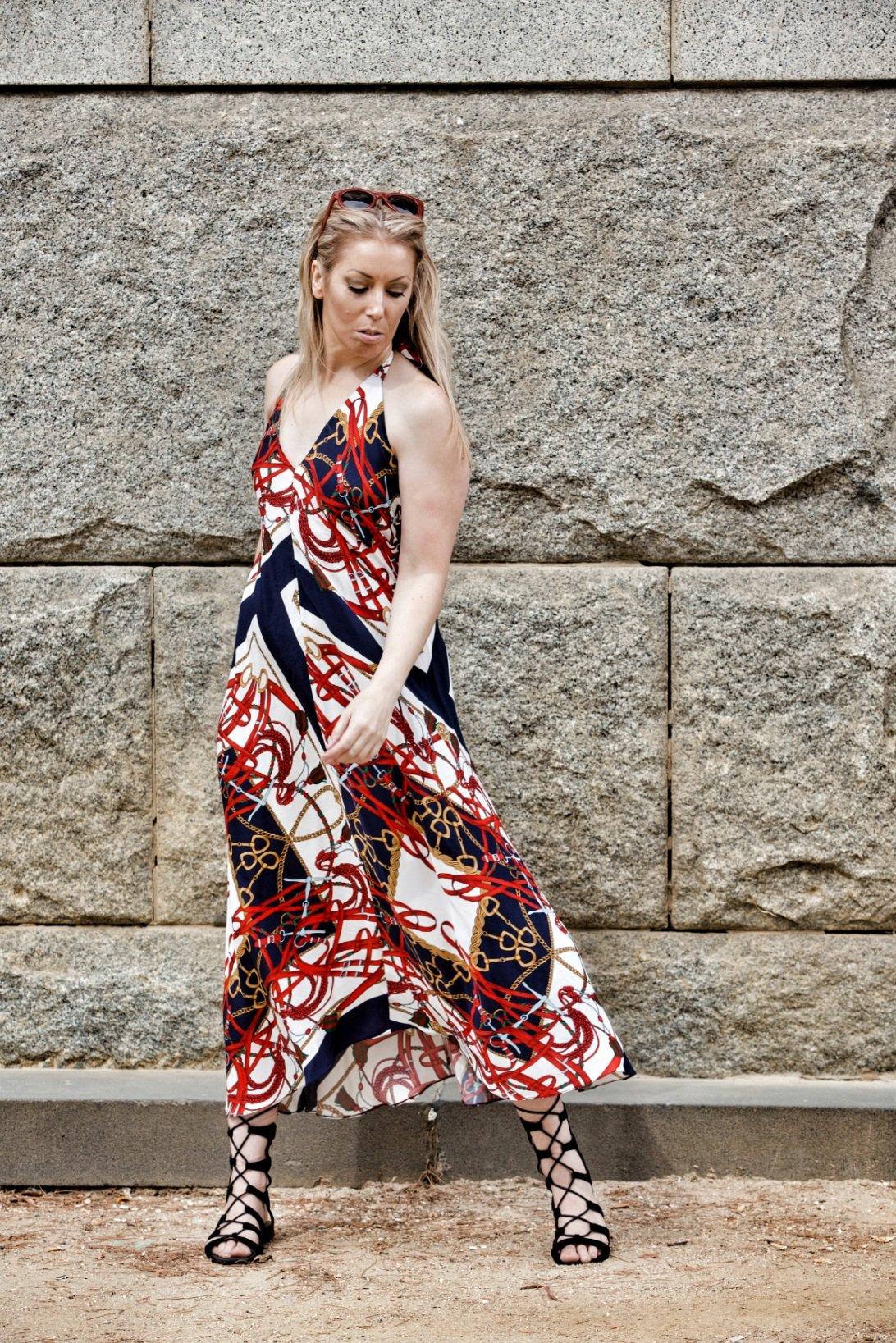 Vintage Zara Halter Neck Maxi Dress 3