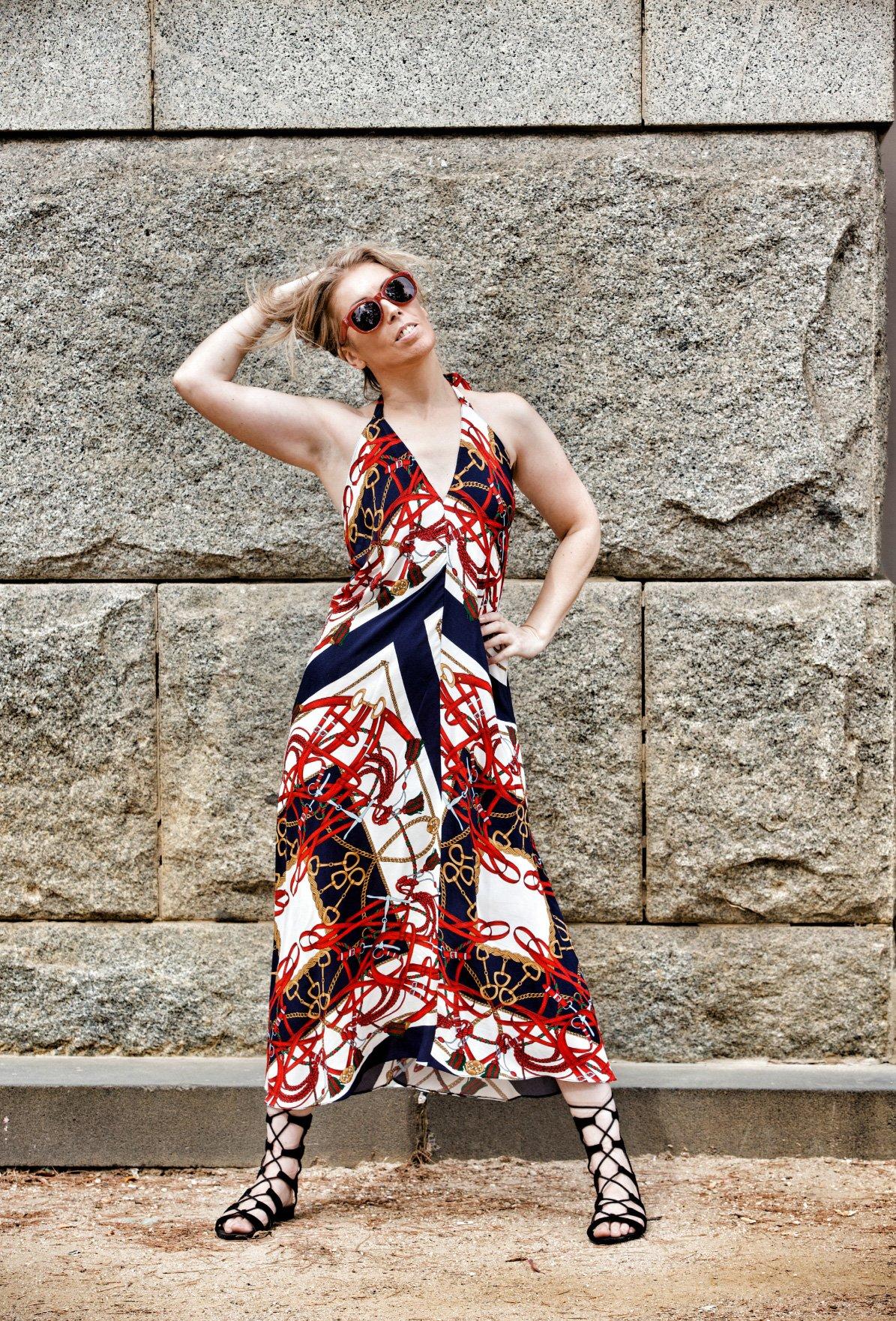 Vintage Zara Halter Neck Maxi Dress 6