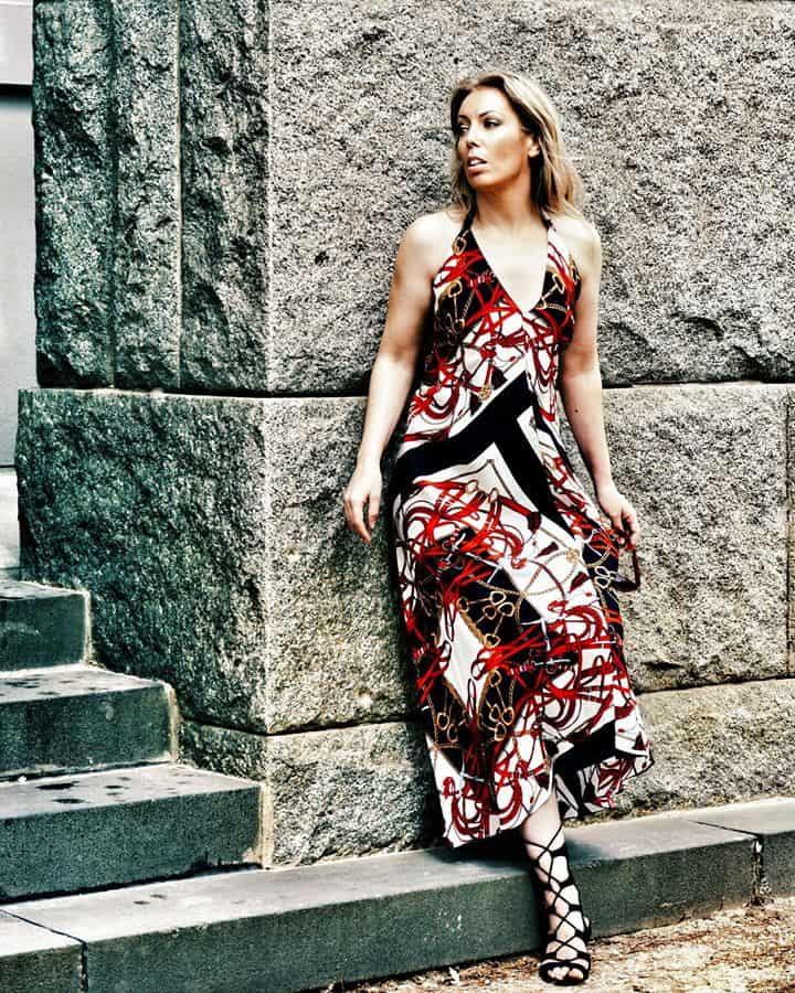 Vintage Zara Halter Neck Maxi Dress 1